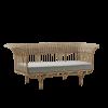 Belladonna Rattan Sofa With Ivory Cushion
