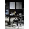 Wenger Polished Black and Natural Wicker Chairs