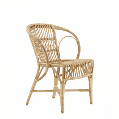 Wengler Polished Natural Wicker Chair