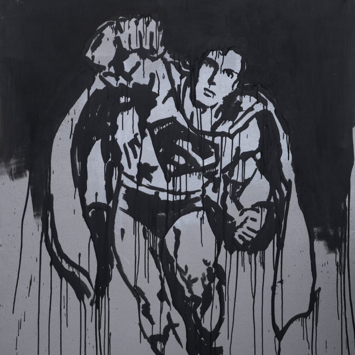 """""""Look Up In The Sky"""" Superman Painting"""