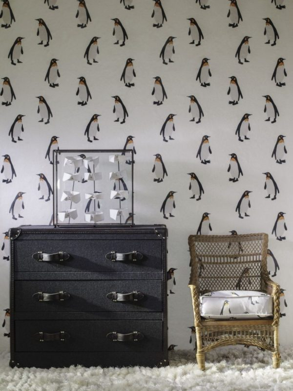 Wool Upholstered Chest of Drawers