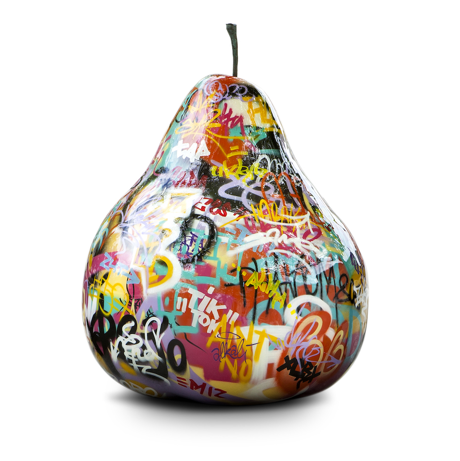 Graffiti Pear Sculpture